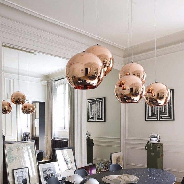 Online-Shop Dia 25-40 cm Moderne Galvanisieren glas pendelleuchte ...