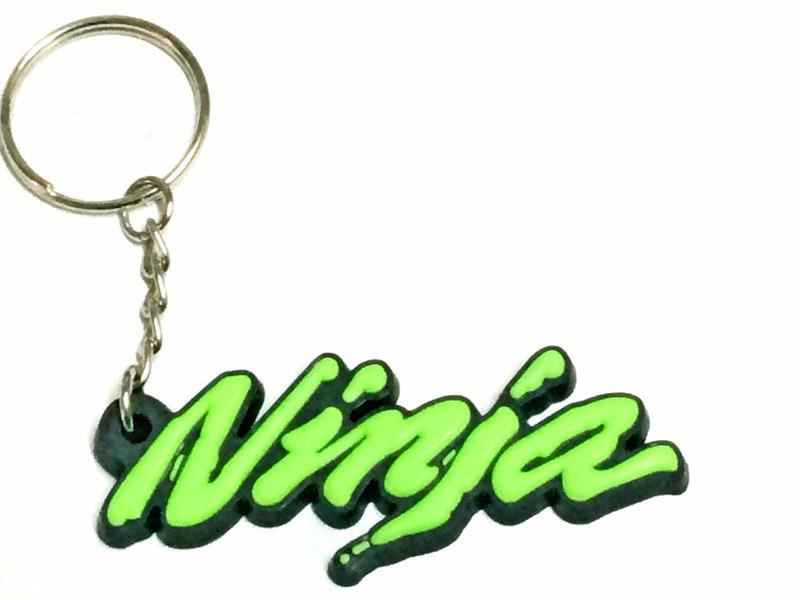 Rubber Motorcycle Ring Key Chain Cool Keychain 3D Soft For Kawasaki NINJA 250R 300 ER6 650 650R 1000 ZX6 ZX7 ZX9 ZX10 ZX12 ZX14