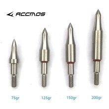 Ponta do ponto de flecha do aço inoxidável do tipo faça você mesmo, 75, 100, 125, 150, 200 250 cabeça de flecha de broadhead