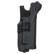 Tactical LV3 Auto lock Light Bearing Duty Belt Gun holster Combat Right Hand Pistol belt for GL17 19 22 23 black