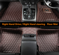 Auto Floor Mats For Mercedes Benz All Model W117 W164 W166 X166 C292 W463 W222 Right Hand Drive High Quality Embroidery Leather