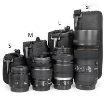 4 шт./лот lightdow высокое качество dslr мягкий протектор объектива камеры мешок c arry Сумка Sml XL Размер 4 в 1 Комплект набор