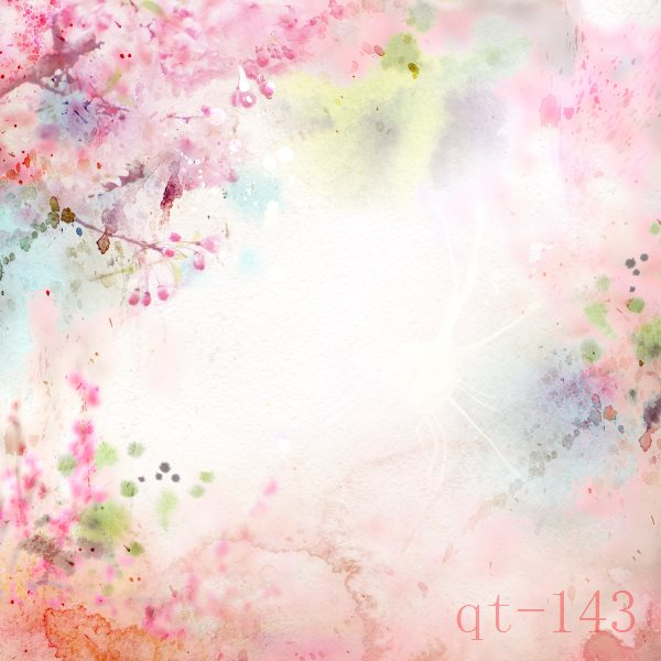 10x10FT Spring Light Pink Flowers Bud Branch Butterfly