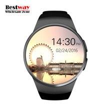 Großhandel 10 teile/los KW18 Smartwatch Smart Uhr Android Uhren Digital-uhr Pulsuhr SIM/Micro Sd-karte freies Verschiffen