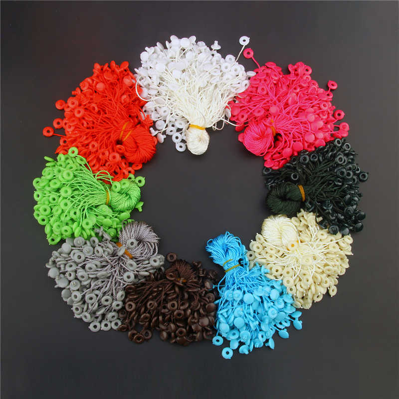 1000 pieces hang tag cord 7 inches quality hang tag string cord for garment price tag seal tag roud head