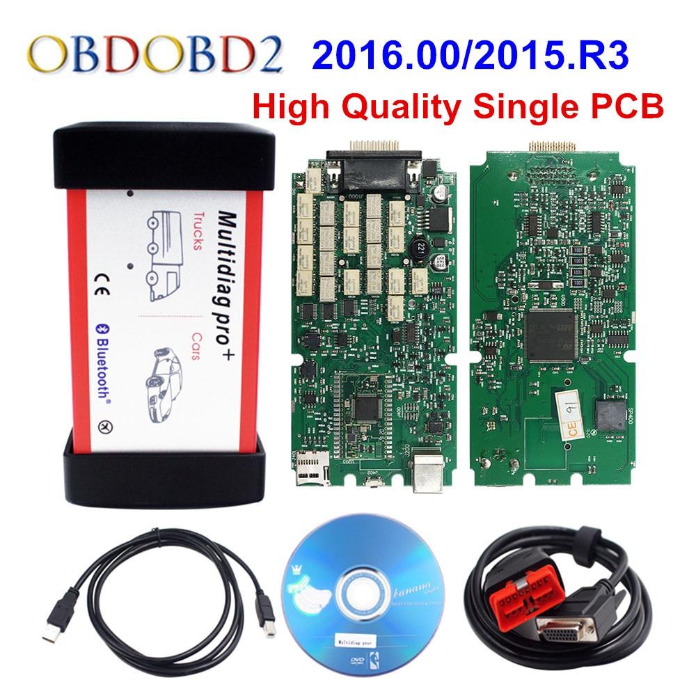 Профессиональный мультидиагностический Bluetooth 2016. R1/2015. R3 Keygen V3.0 NEC 9241A чип OBD2 грузовик автомобиля диагностический инструмент CDP TCS Pro WOW МВД 2016,...