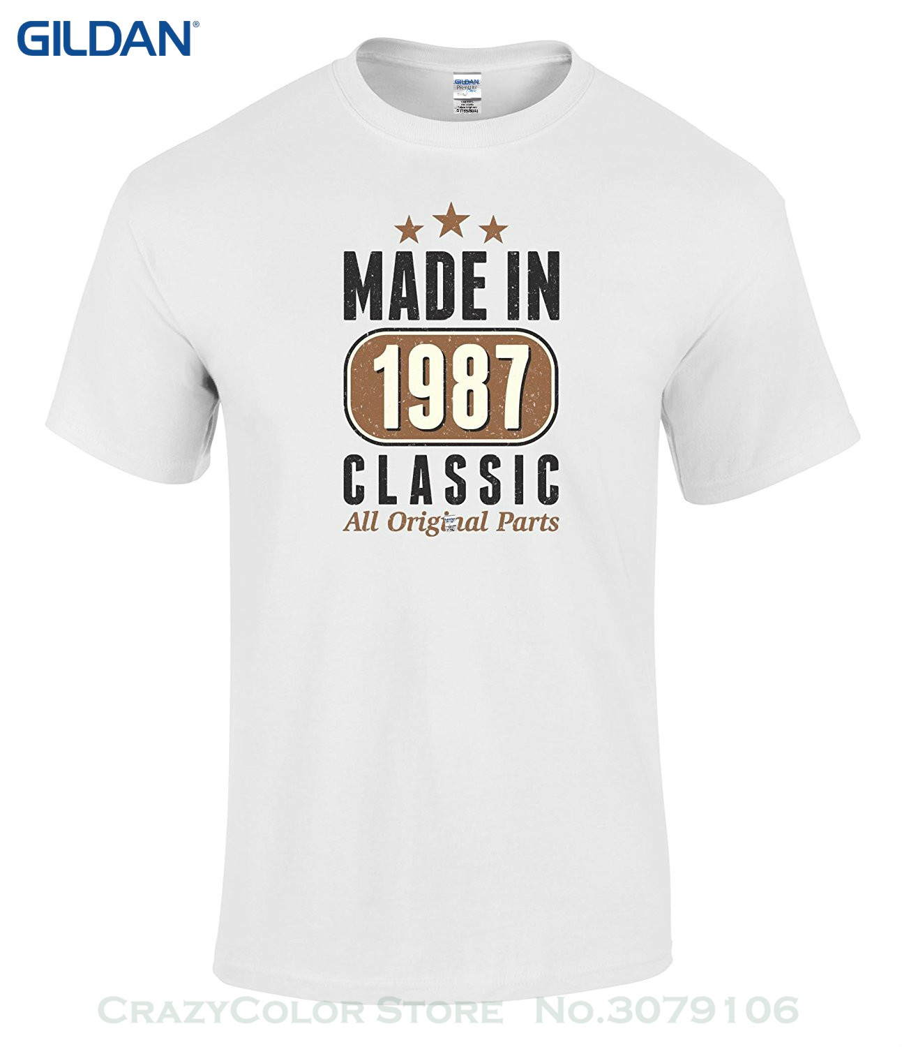 9c849fedfea O Neck Shirt T-shirt Happy 30th Birthday Gift Bundle With 1987 Classic T  Shirt And 10 Party Balloons
