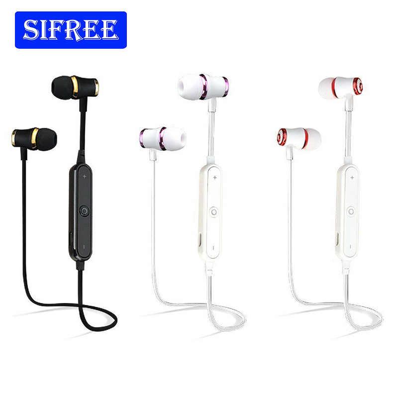 Бас Bluetooth наушники беспроводной гарнитура с микрофоном стерео Магнитная Bluetooth  гарнитура для мобильного телефона спортивные 2d0452176349d