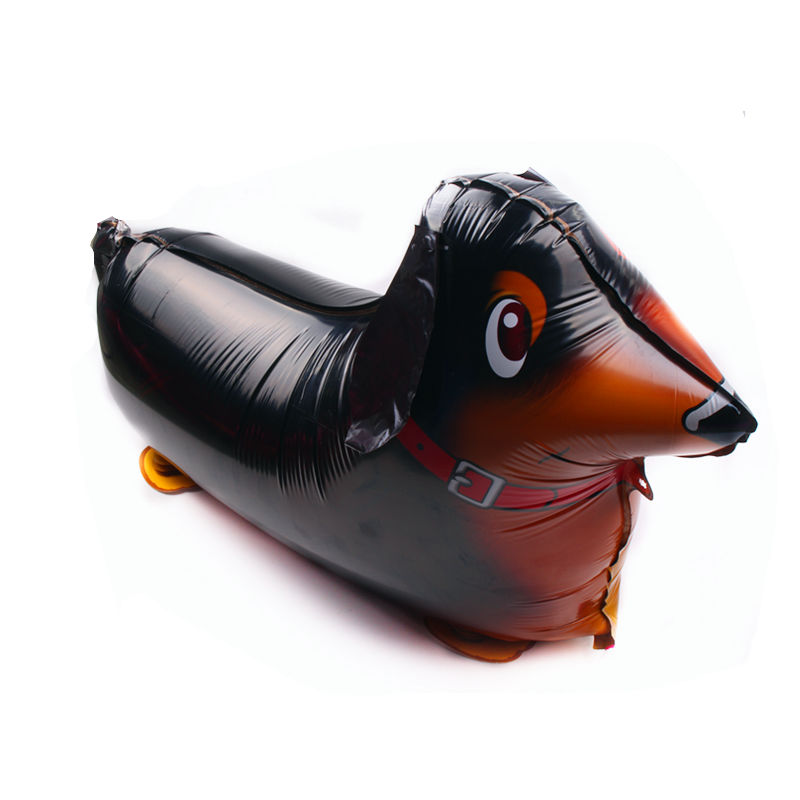 TSZWJ Y-005 New walking sausage dog modeling aluminum balloon balloon children holiday party layout balloon wholesale