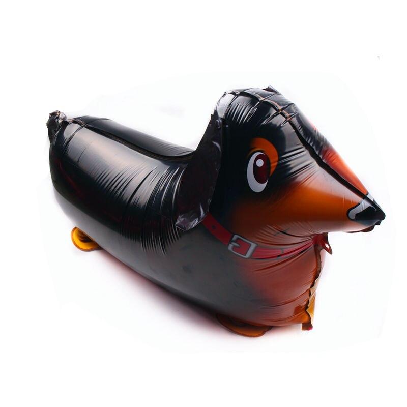 Tszwj Y-005 Новый шагающий Колбаса Собака Моделирование алюминиевый воздушный шар Детская Праздничная макета шар оптовая продажа