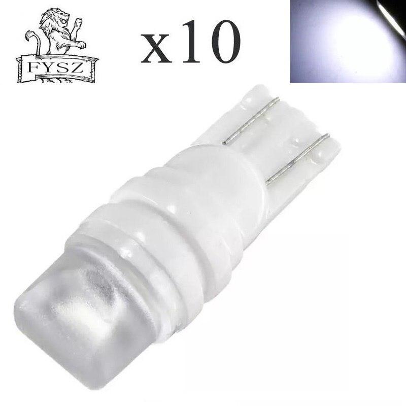 10 Pcs Neue T10 12 V 2835 Keramik 3-smd W5w 194 6000 K Astigmatismus Breite Anzeige Lampe Lesen Lampe Instrument Lampe