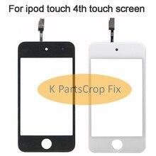 3.5 YENI Orijinal Ön Cam dokunmatik ekran digitizer Değiştirme için iPod Touch 4 4th 4G Siyah ve Beyaz ücretsiz kargo + araçları