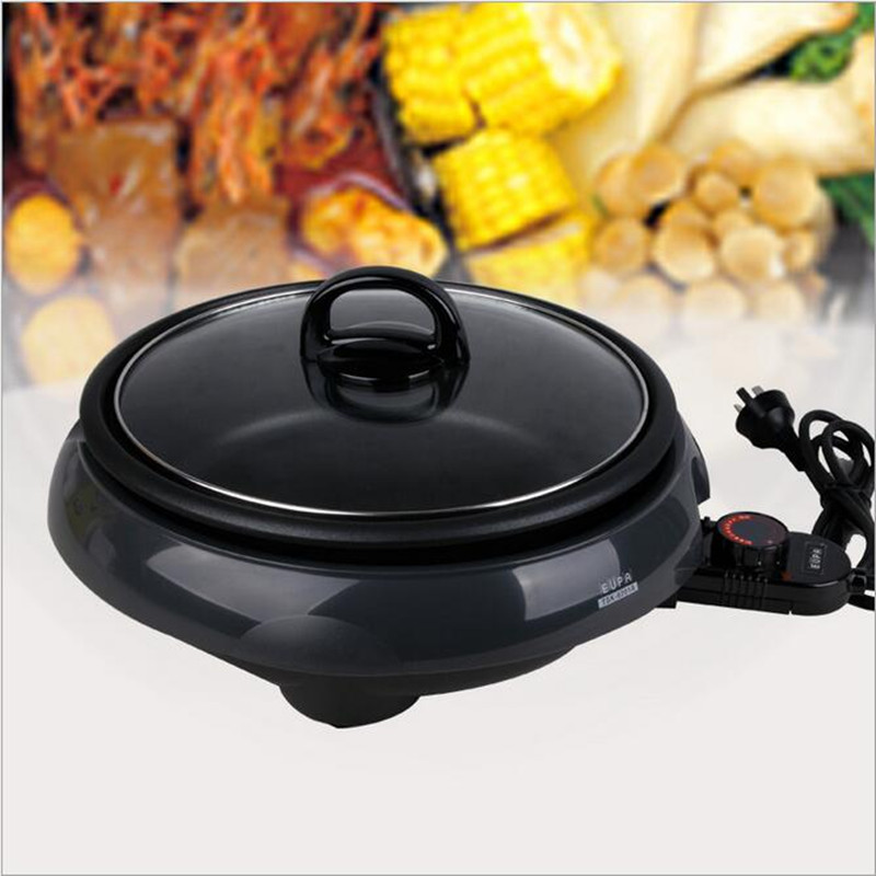 220V/1300W Multifunction Electric Hot pot Non-stick Separable Electric Cooker Electric Skillets Cooking Pot EU/AU/UK/US Plug dmwd electric pressure cooker 5l smart intelligent rice cooker household 0 24 hours non stick soup stew pot keep warm 220v eu us