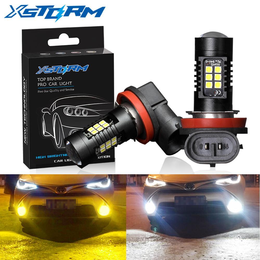 2 шт. H8 H11 светодиодные лампы HB4 светодиодные лампы HB3 9006 9005 SMD светильник s 1200LM 6000K 12V белый светодиодный светильник для вождения автомобиля