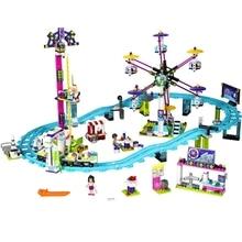 Friends Series Amusement Park Roller Coaster Building Blocks Sets Bricks Classic Girl Kids Model Toys Marvel Compatible Legoings