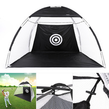 TOMSHOO 10' Golf Training Net Golf Practice Hit Net Golf Target Hitting Cage Tent with Carry Bag Indoor Garden Golf Training Aid(China)