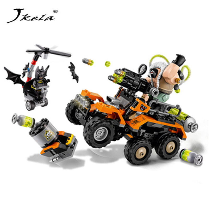 [Hot] Hero Series Bane Toxic Truck Attack Building Blocks Bricks Set Movie Model Kids Toys Marvel Compatible Legoingly Batman moc 1128pcs the batman movie bane s nuclear boom truck super heroes building blocks bricks kids toys gifts not include minifig