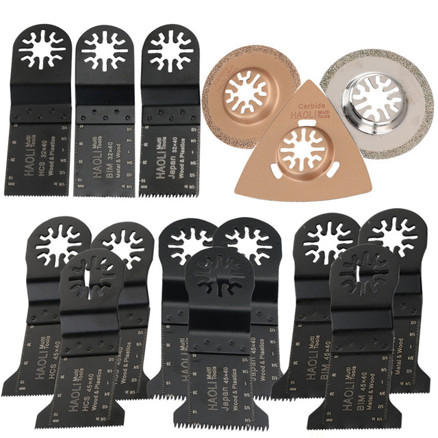 15pcs Oscillating Multi Tool Saw Blades Fits For Fein Multimaster