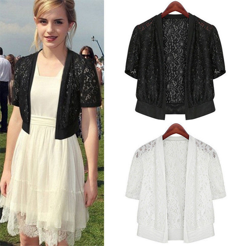 Summer Women Ladies Shawl Mesh Lace Short Sleeve Casual Top Blouse New Fashion Women Tops Cardigan Plus Size
