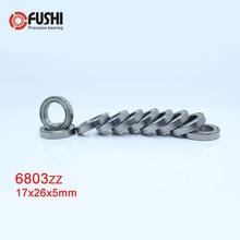 6803ZZ Bearing 17*26*5 mm ( 10 PCS ) ABEC-1 Metric Slim Thin Section 61803Z 6803 Z ZZ Ball Bearings 6803Z