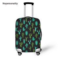 Nopersonality Cute Cactus Print Travel Luggage Cover Anti Dust Waterproof 18/20/22/24/26/28/30 Suitcase Protective Dust Cover