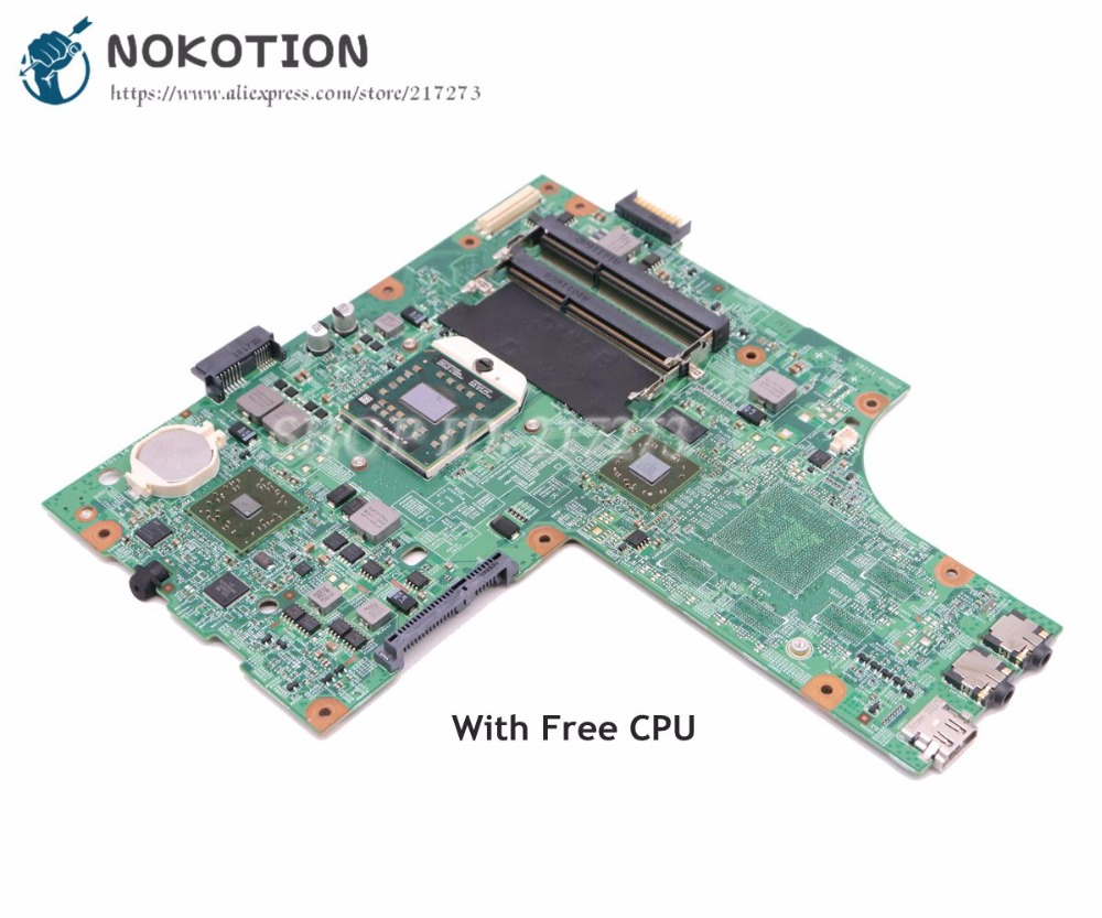 NOKOTION Laptop Motherboard For Dell Inspiron 15R M5010 Main Board CN-0YP9NP 0YP9NP YP9NP 48.4HH06.011 HD4200 DDR3 Free CPU cn 0yp9np laptop motherboard for dell inspiron 15r m5010 yp9np 0yp9np 09913 1 dg15 48 4hh06 011 ati hd4200 ddr3 mainboard