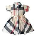 2017 новая мода девушка платье девушка плед принцесса платье детей платье детей платье