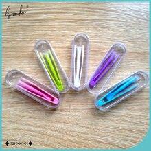 Lymouko 1 conjunto novo multicolorido lentes de contato pinças e sucção vara para grampos especiais ferramenta contato lente inserter removedor