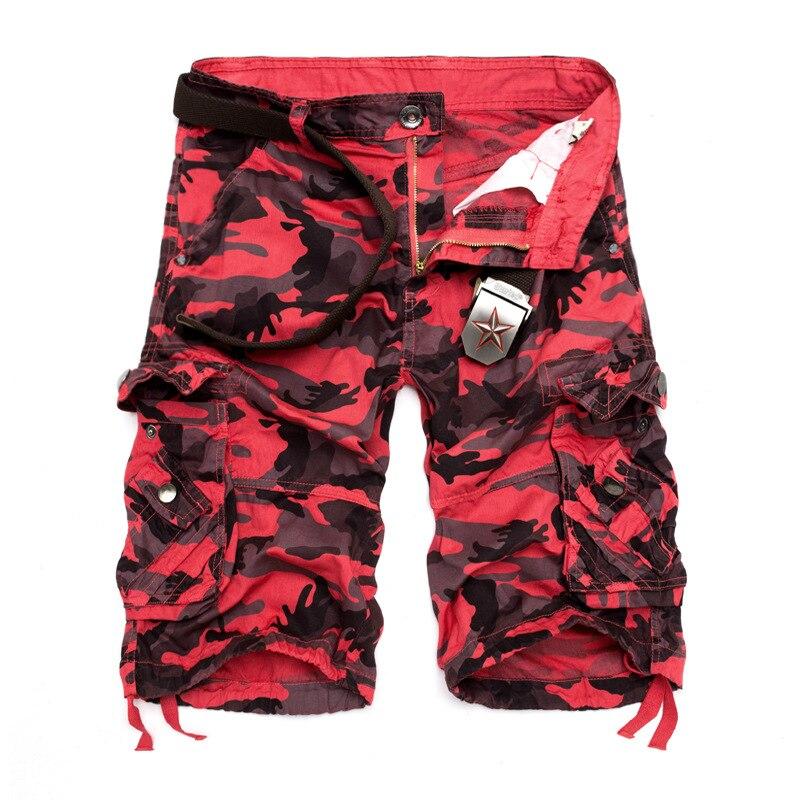 Нам Размеры 2018 Новый Камуфляж Свободные шорты-карго Для мужчин Открытая Летняя обувь Военный Камуфляж Короткие штаны Homme шорты-Карго