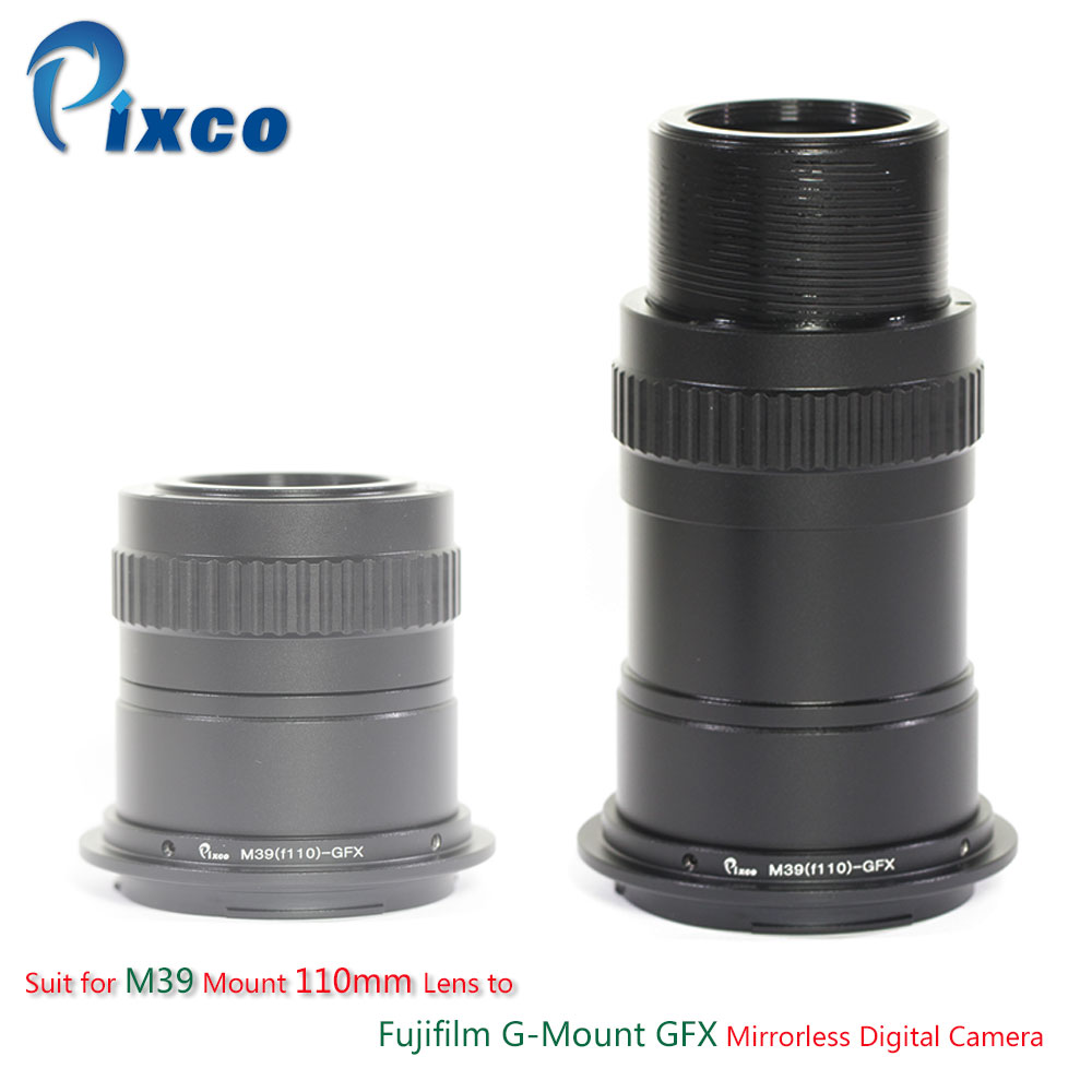 Pixco Lens Adapter Suit for M39 Mount 110mm Lens to Fujifilm G-Mount GFX Mirrorless Digital Camera цена