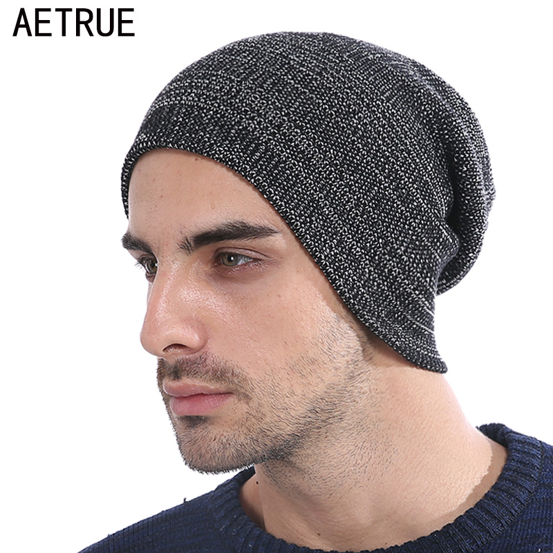 AETRUE Winter Beanie Men Knit Hat Skullies Beanies Winter Hats For Men Women Caps Warm Baggy Gorras Bonnet Fashion Cap Hat 2017 winter casual cotton knit hats for women men baggy beanie hat crochet slouchy oversized cap warm skullies toucas gorros w1