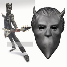 Ghost Nameless Ghouls Mask Cosplay Ghost B.C Heavy Metal Doom Hard Rock Roll Band Latex Helmet Masks Halloween Party Props(China)