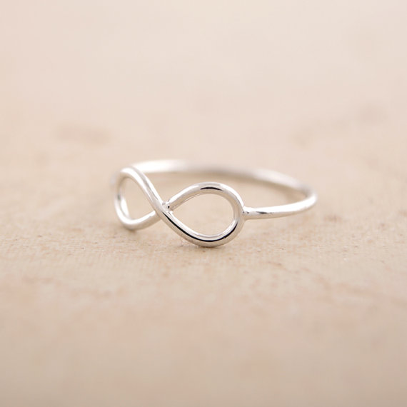 1pcs Fashion Friendship Infinity Ring Infinite Knuckle