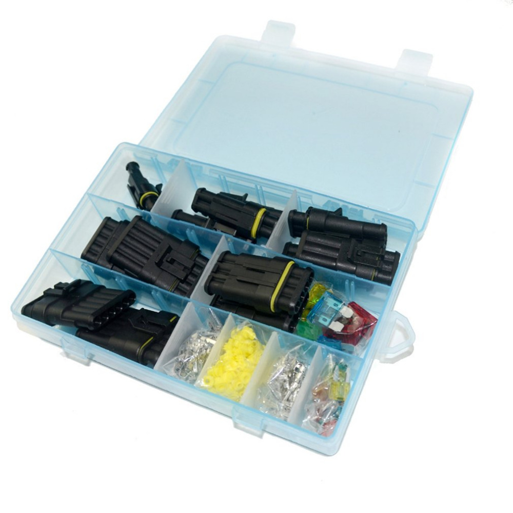 medium small size terminal connector silicone sealed electrical connector plug fuse box set waterproof car motorcycle truck boat [ 1000 x 1000 Pixel ]