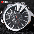 Rose gold Casul watch CURREN Brand Fashion business Men Quartz Watches hot sale leather watch men sport with gift box 8176