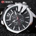 Rose ouro casul assistir curren marca moda homens de negócios de quartzo relógios de venda quente de couro relógio do esporte dos homens com caixa de presente 8176
