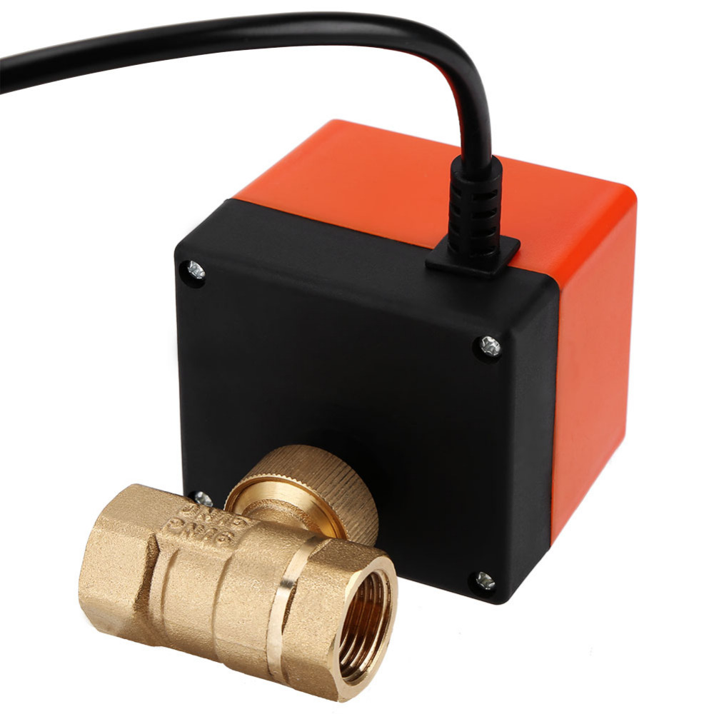 AC220V //24V DC12V//24V 2 way brass valve Motorized ball valve Electric ball valve electric actuator DN15 DN20 DN25 DN32 DN40 Inlet Specification : DN40, Voltage : DC24V, Wiring Control : CN02