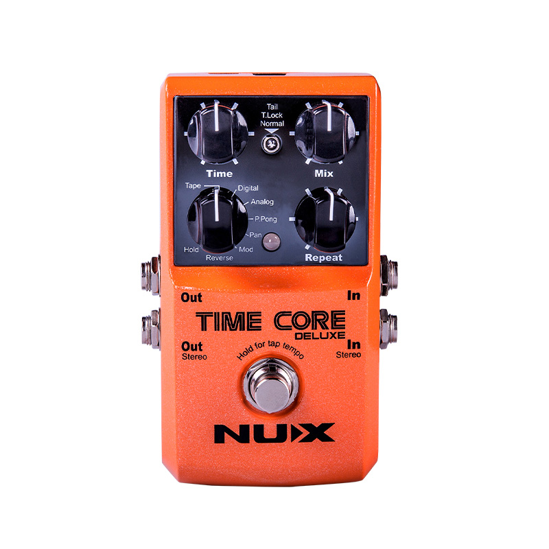 NUX Time Core Deluxe Multi Delay Guitar Effect Pedal 7 Delay Types with Looper Tone Lock Upgrade Mode Guitar Effects AccesspriesNUX Time Core Deluxe Multi Delay Guitar Effect Pedal 7 Delay Types with Looper Tone Lock Upgrade Mode Guitar Effects Accesspries
