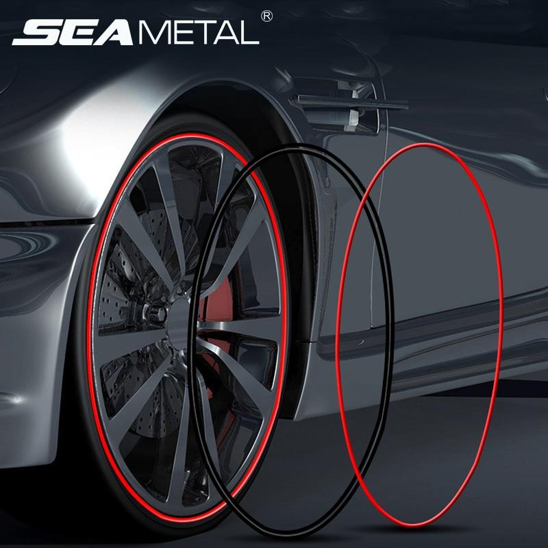 Car Wheel Sticker Tire Rim Strip 8M Chrome Tape Goods Car Grilles Decoration Strips Auto Wheel Protector Car-styling Accessories