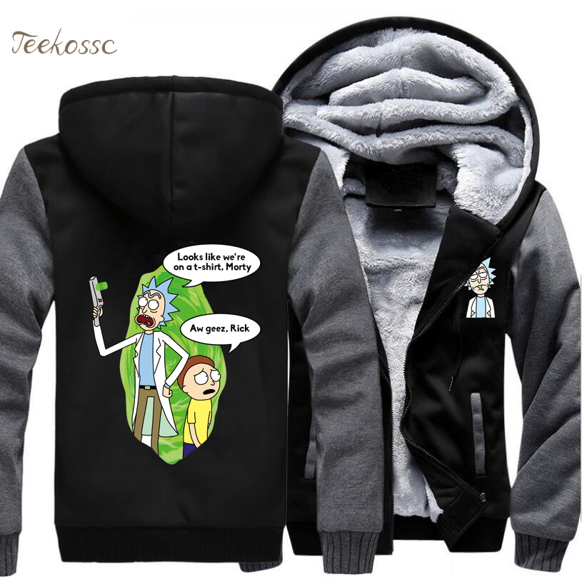 Rick and Morty Hoodie Funny Mens Jacket 2018 New Fashion Winter Hip Hop Sweatshirts Men Hooded Casual Cartoon Hoodies Sportwear