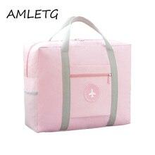 Купить с кэшбэком Hot Sale Fashion Women's Travel Bags Luggage Organizer on The Suitcase Duffle Bag Folding Packing Cubes Travel Bag Hand Luggage