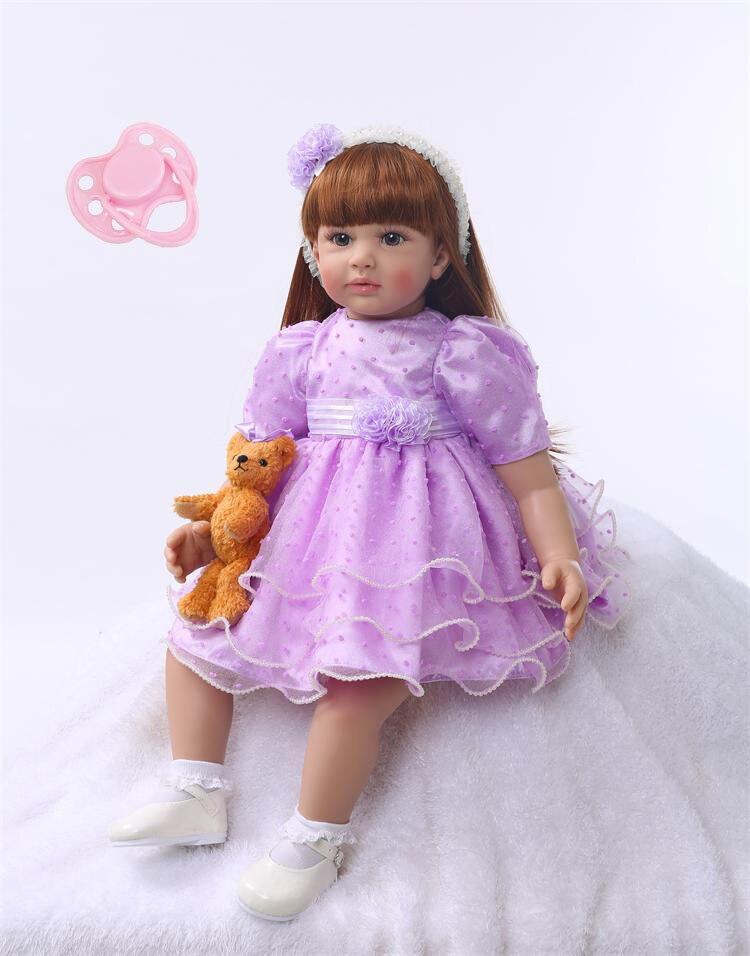 Силиконовые Reborn Baby Doll игрушки 60 см принцесса малыша куклы подарок на день рождения подарок девочек Brinquedos куклы лимитированную коллекцию