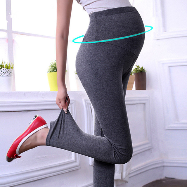 Roupas de maternidade maternidade Legging Spring & Summer Fashion Sólidos Malha das Mulheres Grávidas Plus Size Legging
