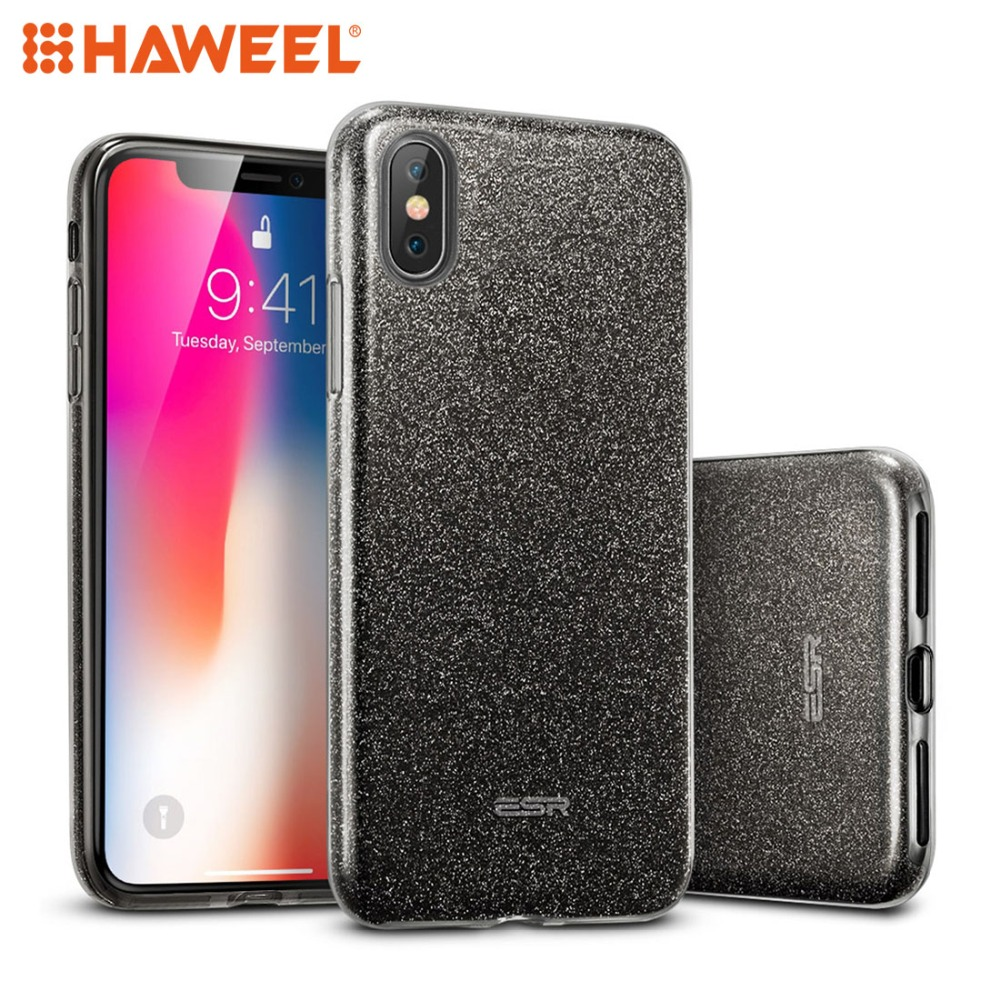 HAWEEL Makeup Series TPU PC Glitter Case for iPhone X XS iPhone 7 7Plus iPhone 8 8Plus iPhone Cover Shell Guard in Fitted Cases from Cellphones Telecommunications