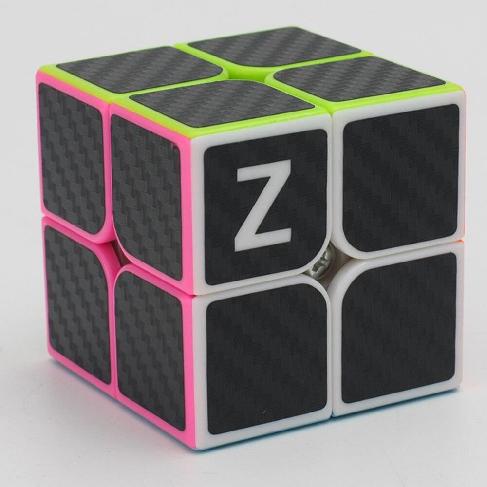 Vadonatúj Zcube 2x2x2 sebességű Magic Cubes Puzzle Játék Kocka Játék Oktatási Játékok Gyermekeknek - Szénszálas matrica