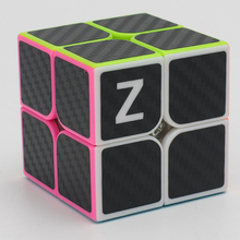 Brand New Zcube 2x2x2 Speed Magic Cubes Puzzle Game Cube Toy Educational Toys for Children Kids - Carbon Fiber Sticker