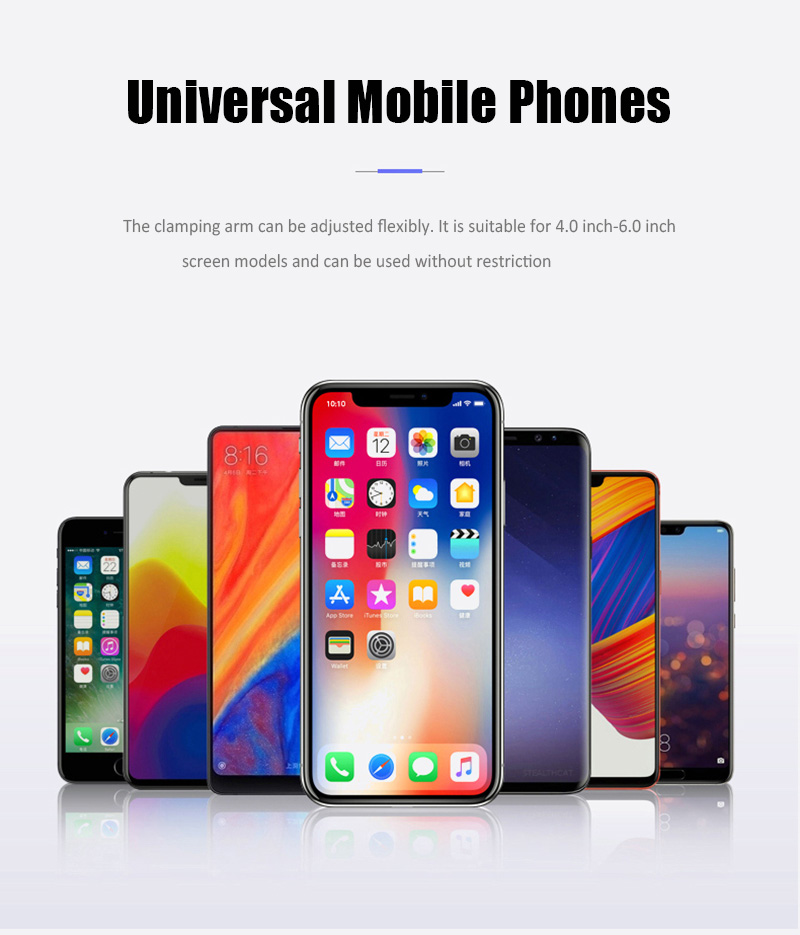 KCAR1017_15_Universal Car Phone Holder For Phone In Car Air Vent Mount Stand No Magnetic Mobile Holder Gravity Bracket for iPhone XS XR Huawei