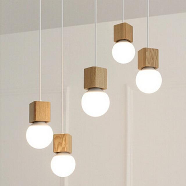 vintage pendelleuchte holz retro lampe 100 cm farbe draht e27 sockel holz fassung h ngeleuchte. Black Bedroom Furniture Sets. Home Design Ideas