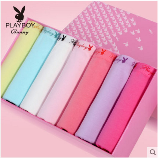 Playboy 7-Gift Boxes Women's Cotton Sports-Shorts Breathable Wholesale Genuine Original