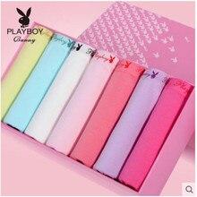 7 подарочных коробок Playboy женские спортивные шорты хлопчатобумажная ткань дышащие подлинные оригинальные подлинные